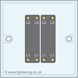 Double gang intermediate light switch