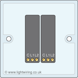 double gang two way light switch 3