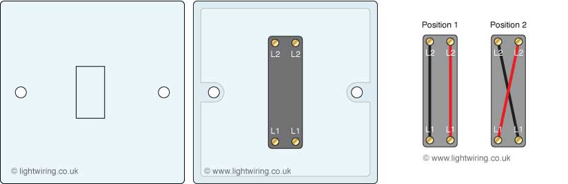 Light Switches on two way switching wiring diagram
