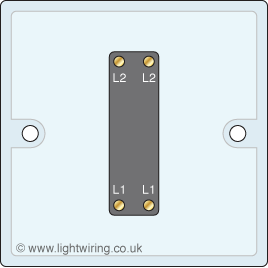 Single gang intermediate light switch