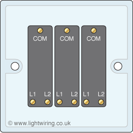 Triple gang 2 way light switch