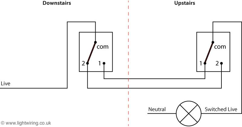 Wiring Diagram 2 Way Lights : Two way switch light wiring
