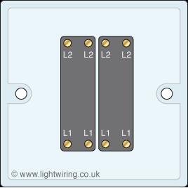 Double gang intermediate light switch