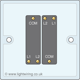 double gang two way light switch terminal variation 1