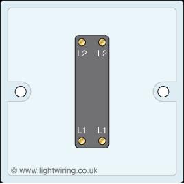 Single gang intermediate light switch