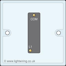 Single gang one way light switch