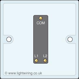 Single gang two way light switch