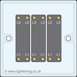 Triple gang intermediate light switch